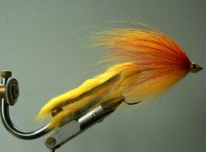 150  Geel Bucktail  10 cm .15 cm .20 cm