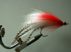 164 Bucktail Breed gebonden 10 cm tot 30 cm redhead KILLER