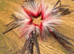 164 Bucktail Breed gebonden 10 cm tot 30 cm redhead KILLER verzwaard of onverzwaard