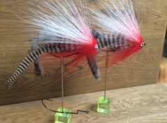 868 Anti wier   Weed dancer 10 tot 25 cm Op Unieke haak RED HEAD