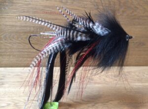 993  Anti wier streamer   15 cm 20 cm 25 cm Op Unieke haak( BLACK IS THE KILLER)