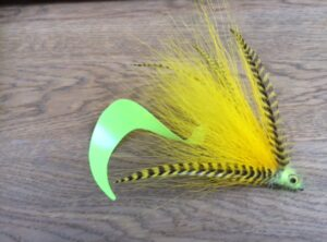 1005 Bucktail TOPPER  15,20 cm   Kleur tail zelf te bepalen