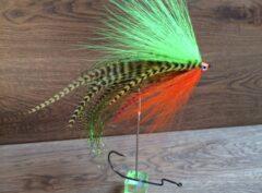 1086 Anti Wier streamer   10,15,20 cm voor vlieg en spinhengel(Ierse kleuren machtig ding)