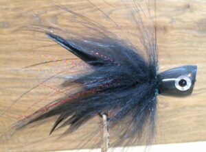 1088 Popper voor snoek en baars 10 cm 15 m 20 cm  Black is the killer