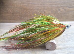 1109 Flash Big Head   15 ,20,25 cm voor vlieg en spinhengel ( de Ierse Killer)